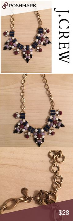 """J Crew Statement Necklace Preowned worn a few times overall good condition except for tarnish on clasp as shown in pic adjustable length total length 22"""" reasonable offers considered through offer button only J. Crew Jewelry Necklaces"""