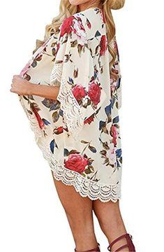 beec1eca0e3f9 Ariel Sarah Chiffon Bikini Cover-Ups Openwork Flower Beach Coat Swimsuit  Cover-Ups Lace Beachwear Sun Protection Clothes