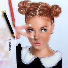 Russian artist Natalia Vasilyeva is specialized in portrait and illustration. Using watercolor pencils and pastel on size archive paper, she draws Makeup Drawing, Makeup Art, La Art, Girly Pictures, Color Pencil Art, Sketch Painting, Beautiful Drawings, Fashion Sketches, Fashion Illustrations