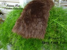 20% Off - Use Coupon Code FURSALE20 at my ETSY Shop www.etsy.com/shop/NonnaMiaCC  Plush Shag Faux Fur   Brown         Newborn and Baby by NonnaMiaCC, $16.00
