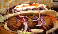 Rory's amazing Lebanese falafel Creamy Garlic Sauce, Fresh Coriander, Middle Eastern Recipes, Falafel, Main Meals, Salmon Burgers, Veggie Recipes, Pitta, Dublin