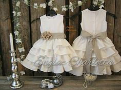 Linen flower girl dress. Rustic flower girl by englaCharlottaShop, €49.00