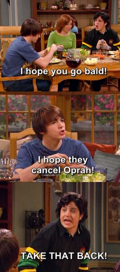 drake and josh...i really wished that they would do an episode when the last Oprah came on and when she announced it....could have made some money