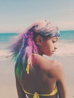 Willow Smith rainbow hair