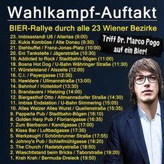 "Die Bierpartei auf Instagram: ""🍺 BIER WAHL KAMPF AUFTAKT 🍺 Sa., 29.8. - Wen sieht man wo? @marco.pogo"" U Bahn, Ecards, Memes, Instagram, Rally, Filling Station, Politics, Beer, E Cards"