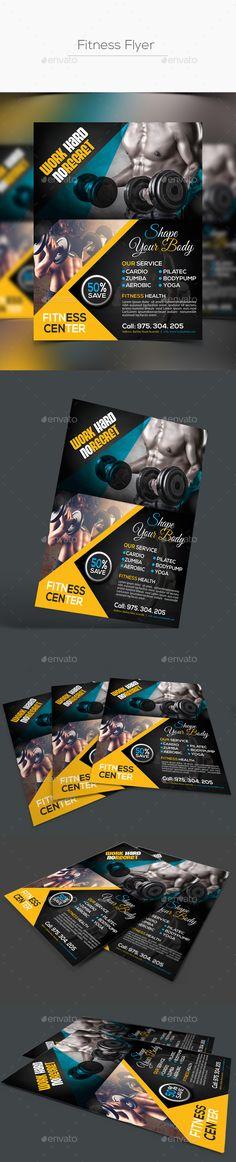 Fitness Flyer Template PSD #design Download: http://graphicriver.net/item/fitness-flyer-template/14275088?ref=ksioks