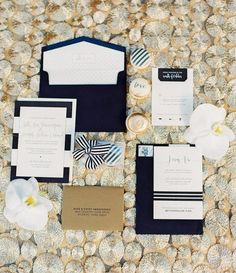 Wedding invitation idea; Featured photographer: Elyse Hall Photography