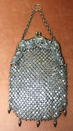 Antique Sterling Silver Chatelaine Purse R. Blackinton & Co. from pjslittletreasures on Ruby Lane