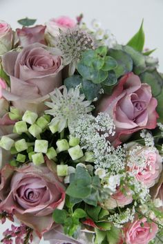 The Flower Magician: Bridal Bouquet in Antique Rose Shades