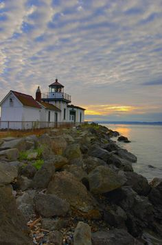 Picture - Lighthouse on Puget Sound.