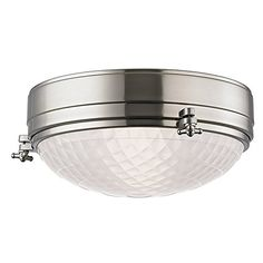 Ceiling Fans Decoration | Hudson Valley Lighting Belmont 2Light Flush Mount  Satin Nickel Finish with Frosted Glass Shade ** See this great product. Note:It is Affiliate Link to Amazon. #success