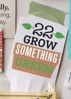 #22: Grow Something Green