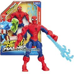 Hasbro Year 2013 Marvel Super Hero Mashers Series 6 Inch Tall Action Figure: SPIDER-MAN with Detachable Hands and Legs Plus Web-Blast