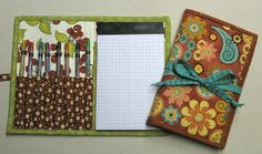 5x8 notepad binder by Terry Atkinson - designed by her for quilter use in jotting down patterns on a 5x8 graph pad.