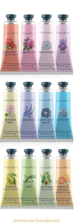 ~A Pastel Rainbow Of Crabtree & Evelyn English Lotions   House of Beccaria#
