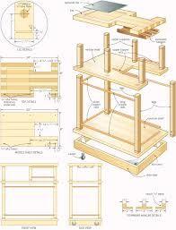 Image result for wood bar cart plans
