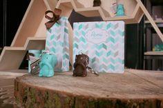 Betty eekhoorn sleutelhanger & geboortekaart | écureuil brun porte-clé & faire-part | brown squirrel key chain & birth announcement
