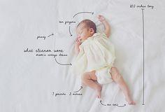 such a cute baby announcement idea!