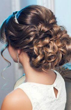romantic, wedding hair up do
