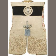 A jinbaori Edo period century) Kimono Japan, Japanese Kimono, Japanese Art, Samurai Clothing, Edo Period Japan, Kabuki Costume, Samurai Armor, Period Outfit, Silk Brocade