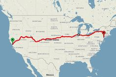 He spent $429 on a train ticket that took him from coast to coast in 15 days.