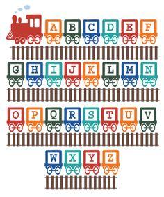Alphabet Train Wall Vinyl Decals Art Graphics by sixunderatree, $60.00