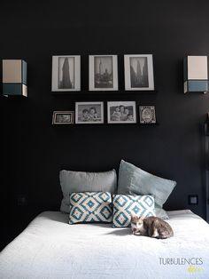 Chez Anne-Sophie, Freckles Design || Une chambre qui ose le noir