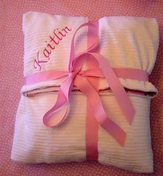 Blanket wrapping for baby gift...