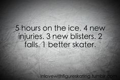 My parents don't understand my love for skating... I would love to spend 10 hours on the ice without stopping