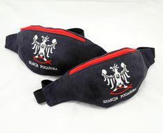 Handmade hip bags - Percival Schuttenbach / czarno - czerwone nerki
