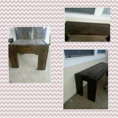 Bench and table for porch!