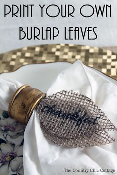 Print your own burlap leaves! Print these leaves directly onto burlap with this method. Perfect for fall and Thanksgiving!