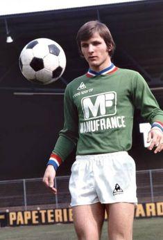 DOMINIQUE BATHENAY 1973-78 SAINT ETIENNE Retro Football, Vintage Football, St Etienne, Saints, Swimming, Field Of Dreams, Soccer, Childhood Memories, Athlete
