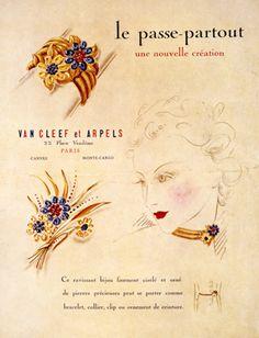 パス パルトゥーの広告、1939年 Image 3 - Van Cleef & Arpels