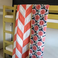 Learn how to make a herringbone patterned quilt.