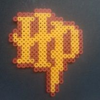 Harry Potter letters perler beads by Wintermoon Crafts