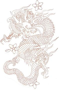 diseños de tatuajes 2019 Ladys and Genltemen, I give you a Chinese Dragon. - diseños de tatuajes 2019 Ladys and Genltemen, I give you a Chinese Dragon. I also have the coloure - Japanese Dragon Tattoos, Japanese Tattoo Art, Chinese Dragon Drawing, Chinese Tattoos, Arabic Tattoos, Red Chinese Dragon, Japanese Tattoo Designs, Celtic Tattoos, Leg Tattoos