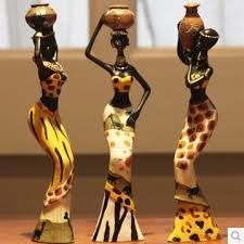 Resultado de imagem para decoracao com pecas africanas