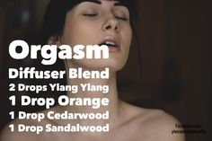 Diffuser blend for sex and intimacy - Ylang Ylang, Orange, Cedarwood and Sandalwood