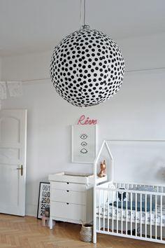 Humongo polka dotted lantern! #estella #kids #decor