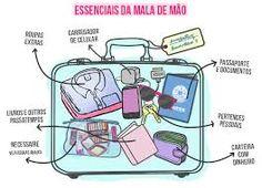 Resultado de imagem para o'que levar na mala de mao Travel Checklist, Travel Essentials, Travel Guide, Places To Travel, Places To Go, Au Pair, Packing Light, Eurotrip, Travel Luggage