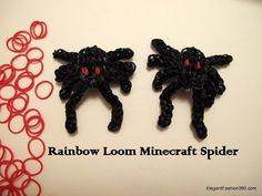 Tutorial: how to make a Minecraft spider on Rainbow Loom. by elegantfashion360.com