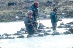 Inuit fishing, photo by Michael Illuitok