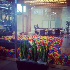 Add this to the list of office must haves! Facebook's newest office comes complete with an office ball-pit!