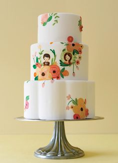 Your wedding cake is a blank canvas! Pick your favorite print and ask your baker if he or she can recreate it.
