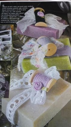 grey soaps decorated