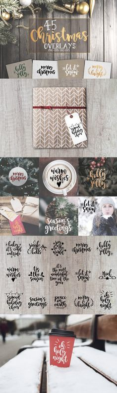 45 Christmas SVG overlays by Milee Kae on @creativemarket