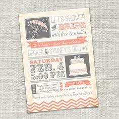 What a cute idea for a bridal shower invite