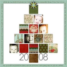 Christmas Scrapbook Page Layout: Use cards received! Christmas Scrapbook Layouts, Scrapbook Paper Crafts, Scrapbook Supplies, Christmas Layout, Scrapbooking Digital, Scrapbooking Photo, Scrapbook Sketches, Scrapbook Page Layouts, Baby Scrapbook
