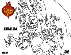 The Book Of Life Coloring Pages For Kids 6